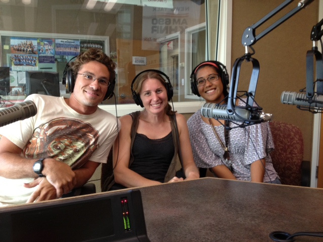 University of Hawaii PhD Students Jon Whitney and Nyssa Silbiger, and Brenda Asuncion.